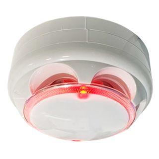 ULTRA DETECTION, Thermal Rate Of Rise & Fixed Temp Heat Sensor, Fixed tempurature 57 deg C (135 deg F), Rate-of-rise 8-15 degrees, Auto reset, 12V DC @ 120mA