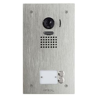 AIPHONE, JO Series, Door station, 2 button, Video, Colour, Stainless steel plate, Flush mount, Vandal resistant, Suits JO1MD & JO1FD.