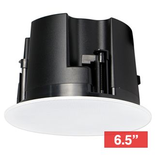 "CMX, 6"" Frameless Coaxial speaker, Ceiling mount, 15W, 6.5"" (150mm), includes white frameless metal grille, Rota-clamp mounting, 60-20KHz response, 100V line (30W) and 8 Ohm"