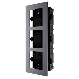 HIKVISION, 8000 Series 2, Modular Door station back box & frame, Flush mount, 3 modules.
