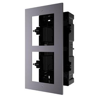 HIKVISION, 8000 Series 2, Modular Door station back box & frame, Flush mount, 2 modules.