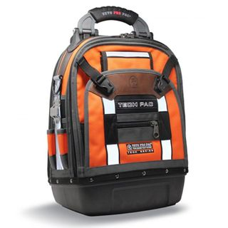 VETO PRO PAC, Tech Series, Hi Visibility Orange Back pack, HVAC technician tool bag, Closed style, 56 tiered pockets, 4 storage platforms, Weather resistant base & fabric, 361(L) x 248(W) x 546(H)mm