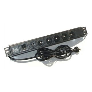 "PSS, 6 Way horizontal power rail, Suits 19"" Rack mount cabinet enclosure"
