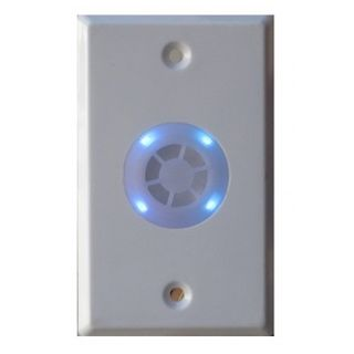 SECOR, 4 in 1 combination siren/buzzer/LED strobe and LED on standard switch plate, BLUE strobe, 110(H) x 70(W) x 35(D)mm, Siren: 150mA (max), LED: 30mA