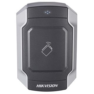 "HIKVISION, Pro series, Proximity card reader, Mullion style, Up to 2"" (50mm) read range, Heavy duty, Built in buzzer, Two colour LED, Mifare compatible, 3-Year warranty, IK10, 12V DC 170mA,"