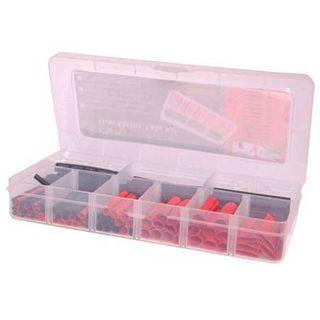 NETDIGITAL, Heat shrink tubing pack, 106 piece, Black & Red, 45mm & 75mm Length, Assorted Diameters, 3:1 shrink ratio, comes in carry case