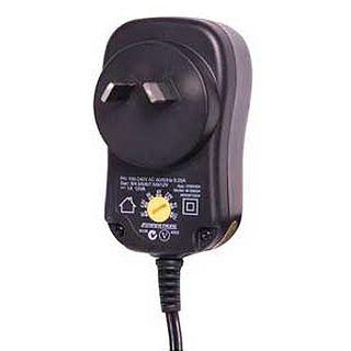 NETDIGITAL, Multi voltage (including 800mA @ 12V DC) regulated plug pack power supply, Front mounted voltage adjustment switch