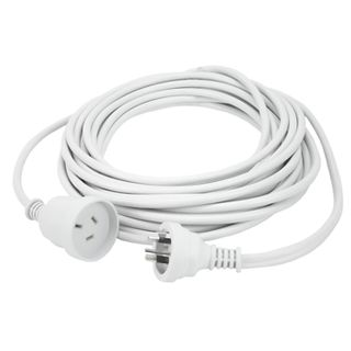 POWERMASTER, Home and Office Extension Cord, 3 metre, White
