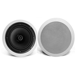 """CMX, 5"""" Coaxial speaker, Ceiling mount, 6W, 5"""" (125mm), includes white metal grille, Wide dispersion, Rota-clamp mounting, 80-18KHz response,100V line (Taps at 3, 6W)"""