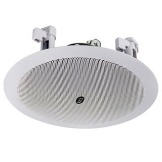 """CMX, 5"""" Dual cone speaker, Ceiling mount, 6W, 5"""" (125mm), includes white metal grille, Wide dispersion, Rota-clamp mounting, 100-15KHz response, 100V line (Taps at 3, 6W), cutout 170mm,"""