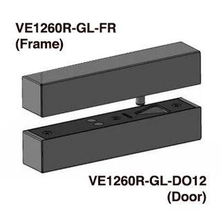 FSH, Dropbolt, EcoLock, Glass door Frame box for VE1260R Round Edge strike plate.
