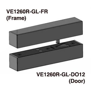 FSH, Dropbolt, EcoLock, Glass door box, suits the VE1260R Round Edge strike plate, caters for -/+ 12mm misalingment