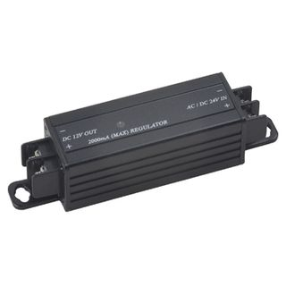 NETDIGITAL, Voltage converter, converts 15-26V AC or 15-28V DC to regulated 12V DC 2.0A output, Screw terminal connections.