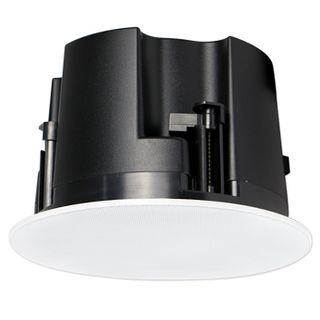 """CMX, 5"""" Frameless Coaxial speaker, Ceiling mount, 20W, 5.25"""" (125mm), includes white frameless metal grille, Rota-clamp mounting, 60-20KHz response, 100V line (20,10,5,2.5W) and 8 Ohm, cutout 180mm,"""