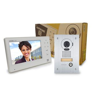 AIPHONE, JO Series, Video intercom kit, Colour, Hands free, Includes 1 x JO1MD master station, 1 x JODVF flush mount vandal door station, 1x power supply