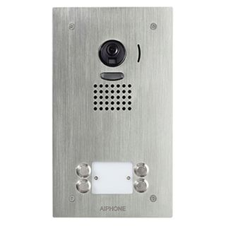 AIPHONE, JO Series, Door station, 4 button, Video, Colour, Stainless steel plate, Flush mount, Vandal resistant, Suits JO1MD & JO1FD.