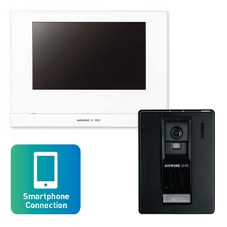 AIPHONE, JO Series, WIFI Video intercom kit, Colour, Hands free, Includes 1 x JO1MDW master station, 1 x JODA surface mount plastic door station, 1x power supply