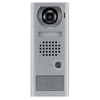 AIPHONE, AX Series, Door station, Video, Colour, Silver, Surface mount, With space for proximity reader,