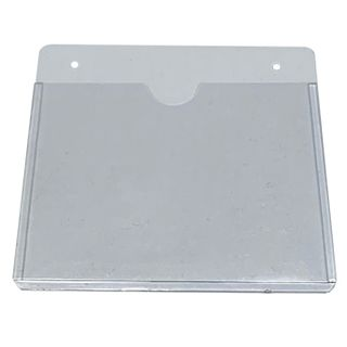 NETDIGITAL, Card holder, Flexible, Single sleeve, Clear, Portrait, With centre slot and holes, Ideal for single proximity/photo ID/smart/magstripe cards,