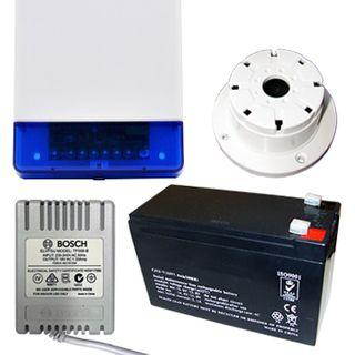 NETDIGITAL, Alarm accessory bundle, includes Slimline Square Style Cover Siren/Horn with Strobe & Tamper switch (WP16), 12V 7AH Battery, 18V AC 1.33A plug pack, Top Hat screamer
