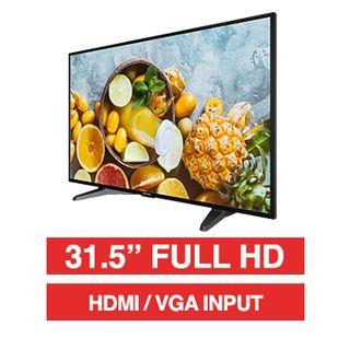 "HIKVISION, 31.5"" LED 16:9 Colour Monitor (Black), Full HD 1920x1080 resolution, 6.5ms response, 3000:1 contrast ratio, HDMI/VGA input, 200x100 VESA mount, Incl. Desk stand"