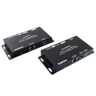 XTENDR, HDMI Extender, 4K @70m, 1080P @ 100m over single Cat6, HDMI loop out TX, Dual HDMI out RX, 18Gbps, HDR10, HDCP2.2,1.4, Dual POC, Bi-direction IR, 5V DC