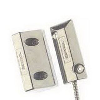 """SENTROL, Reed switch, Surface Mount, 3"""" gap, Closed loop, Includes 18"""" stainless steel armoured cable."""