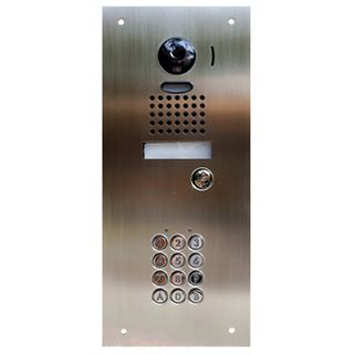 AIPHONE, Door station & key pad combination stainless steel plate, Flush mount, Vandal resistant, 315 X 140mm, Small, Suits JK, JO & JP, requires AC10U and Flush Door Station