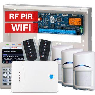 BOSCH, Solution 6000, Wireless alarm kit, Inc CC600PB panel, CP741B LCD WIFI keypad, 3x RFPR-12 wireless PIR detectors, 1x RF120 LAN receiver, 2x RF110 transmitters