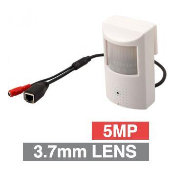 ULTRA, Covert PIR IP Camera, White, 5MP, 3.7mm fixed lens, 15m IR, POE
