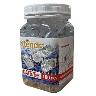 XTENDR, RJ45 CAT5/5e Crimp Connectors, Jar of 100