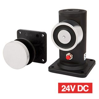LOX, Electromagnetic door holder, Floor mount, With release button, 25kg holding force, 24V DC, 80mA,