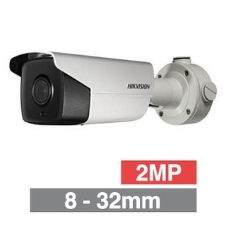 "HIKVISION, 2MP HD-IP DARKFIGHTER ANPR Bullet camera, White, 8-32mm zoom lens, Plates up to 25m, 100m IR, 60fps, WDR, Day/Night (ICR), 1/1.8"" CMOS, H.264, IP67, 12V DC/PoE"
