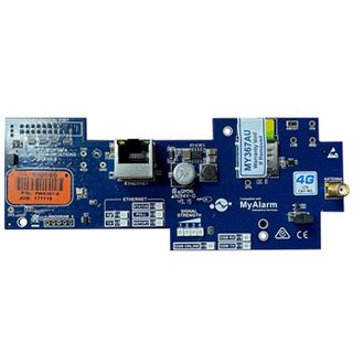 DIGIFLEX, 4G GPRS / IP interface module, Single SIM + RJ45 connection, CATM1 equivalent,  includes Antenna, Suits Solution 6000, requires MyAlarm SIM subscription.