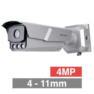 "HIKVISION, 4MP ANPR Bullet camera, White, 4-11mm zoom lens, 50m IR, 25fps, 140dB WDR, Day/Night (ICR), 1/1.8"" CMOS, H.264/5, IP67/IK10, 12V DC to 24V DC/PoE"