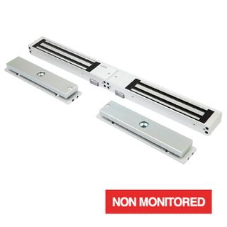 LOX, Electromagnetic lock, Double door, Surface mount, Non-Monitored, 280kg (x2) holding force, 4 hour fire rated, Medium size, 477(L) x 48(H) x 25(D)mm, 12VDC/24VDC, 500/250mA (x2)