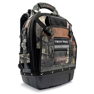 VETO PRO PAC, Tech Series, Camouflage Back pack, HVAC technician tool bag, Closed style, 56 tiered pockets, 4 storage platforms, Weather resistant base & fabric, 361(L) x 248(W) x 546(H)mm