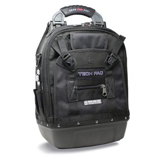 VETO PRO PAC, Tech Series, Black Back pack, HVAC technician tool bag, Closed style, 56 tiered pockets, 4 storage platforms, Weather resistant base & fabric, 361(L) x 248(W) x 546(H)mm