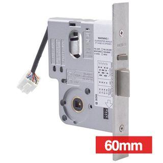 LOCKWOOD, Electric Mortice Lock, Monitored, Primary lock, Fail safe/fail secure, 60mm backset, No cylinder, Satin chrome, 12- 24v DC,