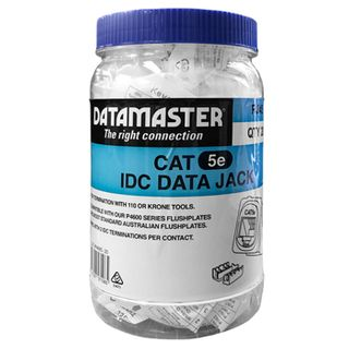 DATAMASTER, 'Clipsal' Keystone Jack, 8P Punchdown style, Cat5E (T568A/B), suits Clipsal plates, JAR OF 20