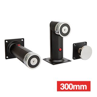 LOX, Door Hold Open Magnetic with Extension, Wall or floor mounted, 40KG Holding force, 12V/24V DC (100mA/50mA), 300mm extension