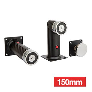 LOX, Door Hold Open Magnetic with Extension, Wall or floor mounted, 40KG Holding force, 12V/24V DC (100mA/50mA), 150mm extension