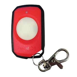 ELSEMA, PentaFOB Transmitter, 1 Channel, Large button, Hand held pendant/keyring, 433 MHz FM signal, Includes 3.3V battery, Red