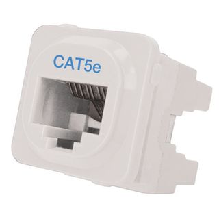 DATAMASTER, 'Clipsal' Keystone Jack, 8P Punchdown style, Cat5E (T568A/B), suits Clipsal plates.