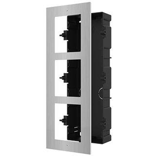 HIKVISION, 8000 Series 2, Modular Stainless Door station back box & frame, Flush mount, 3 modules.