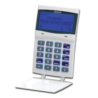 BOSCH, Solution 6000, Key pad, Alphanumeric LCD, 144 zone, WHITE, Touch tone & backlit keys, Adj volume, backlight & contrast, Suits Solution 6000 panel