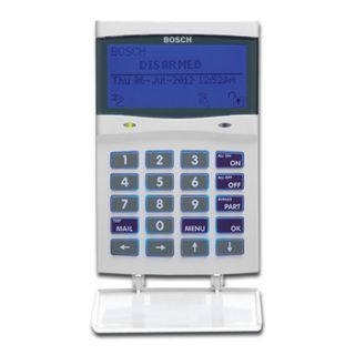 BOSCH, Solution 6000, Key pad + Smart Prox RS485, Alphanumeric LCD, 144 zone, WHITE, Touch tone & backlit keys, Adj volume, backlight & contrast, Suits Solution 6000 panel