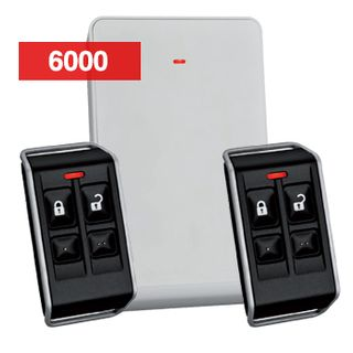 BOSCH, Deluxe wireless remote kit, Includes 1x RFRC-STR2 Radion receiver and 2x RFKF-FB 4 button key fob transmitters (black), Suits Solution 6000/144, 64, 16 Plus, 16i and Ultima 880, 433MHz