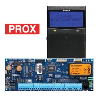 BOSCH, Solution 6000, Control panel PCB (CC600PB) + BLACK Smart Prox key pad (CP732B), Integrated proximity reader, Alphanumeric LCD, 144 zone, Touch tone & backlit keys