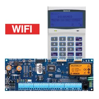 BOSCH, Solution 6000, Control panel PCB (CC600PB) + WHITE WiFi key pad (CP741B), Integrated WiFi IP Module + Tamper, Alphanumeric LCD, 144 zone, Touch tone & backlit keys